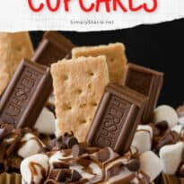 S'mores Cupcakes - This cupcake has everything you love about s'mores…..without the campfire! Sweet marshmallows, graham crackers and chocolate cake base make these eye catching cupcakes pop.