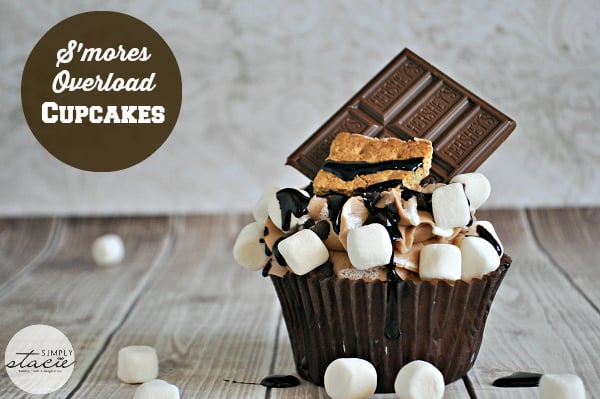 S'mores Overload Cupcakes - a decadent cupcake recipe you can make at home…no campfire required!