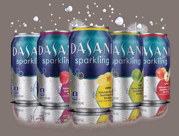 dasani sparkling cans