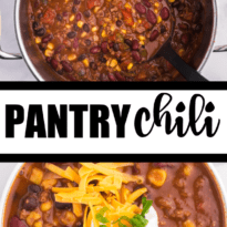 Pantry Chili - Made mostly with ingredients from your pantry!