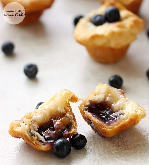 Blueberry Cheese Tarts - Whether it's a dessert or appetizer, I don't know. I do know that these bite sized tarts are delicious!