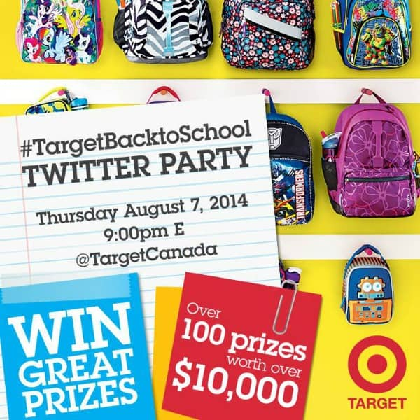 Join the #TargetBacktoSchool Twitter Party!
