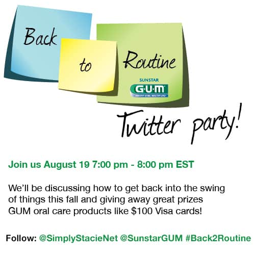 Sunstar GUM #Back2Routine Twitter Party