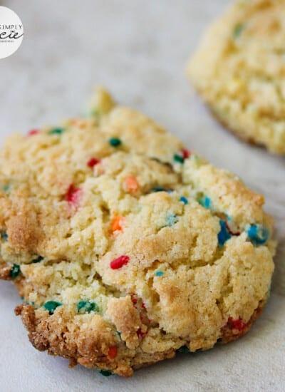 Confetti Cake Mix Cookies