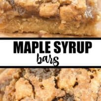 Maple Syrup Bars - Sweet and sticky dessert recipe made with real maple syrup.