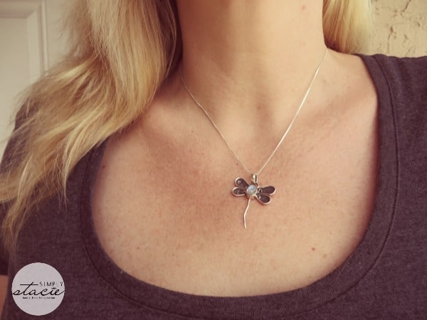 Moonstone Dragonfly Design Sterling Silver Pendant Review