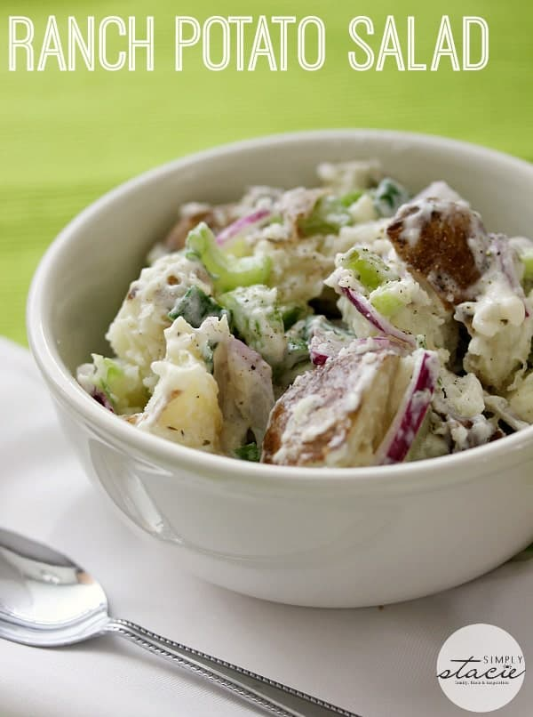 Ranch Potato Salad ~ one of the yummiest potato salad recipes ever! Try Ranch dressing instead of mayo on your next batch.