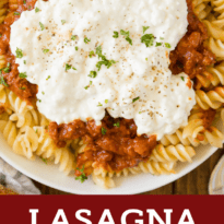 Lasagna Bowl - so much easier to make than traditional lasagna and tastes just as delicious, if not better!