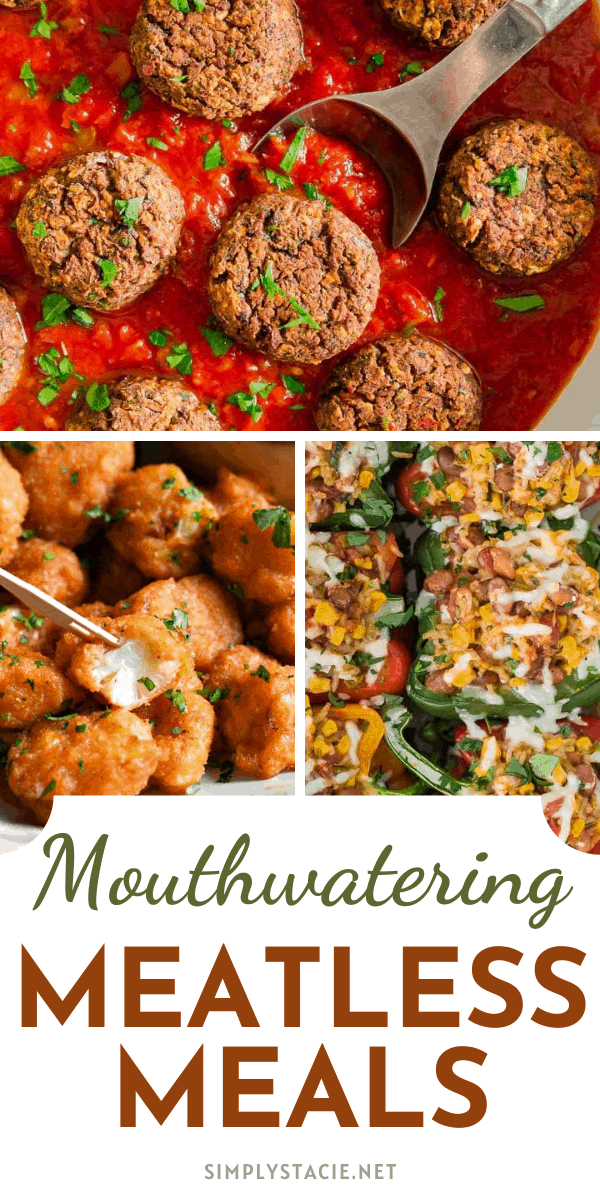 Mouthwatering Meatless Meals - Looking for Meatless Monday meal ideas? This recipe collection has you covered. You won't even miss the meat!