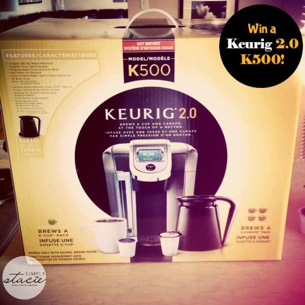 Keurig 2.0 K500 Brewer Giveaway
