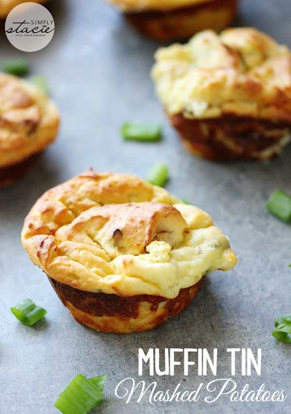 Muffin Tin Mashed Potatoes - a simple and tasty way to use up leftover mashed potatoes!