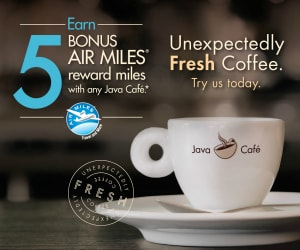 Earn Bonus AIR MILES with Java Cafe