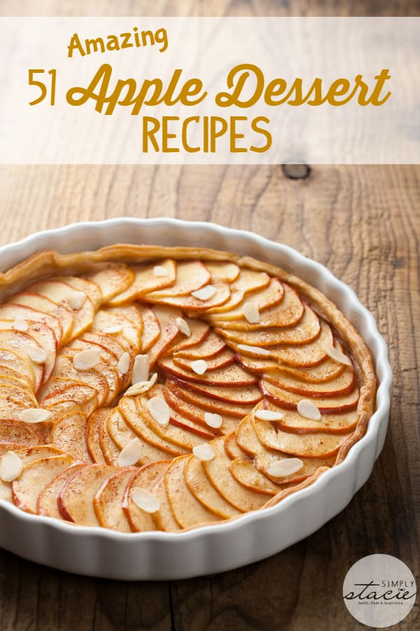 51 Amazing Apple Dessert Recipes - Never run out of ideas of ways to use up your fresh orchard apples with this diverse list!