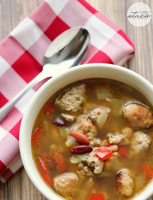 Chicken and Sausage Soup #chickendotca #CluckToberFest
