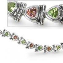 Mystic Sunset Topaz & Peridot Gemstone Bracelet