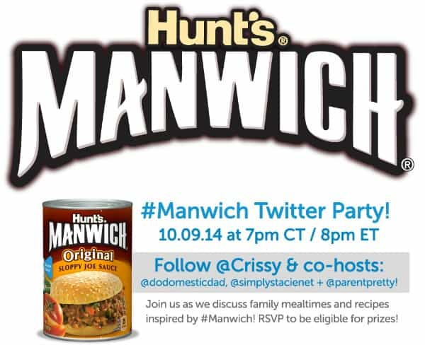 Join the #Manwich Twitter Party on 10/9 at 8 pm EST!