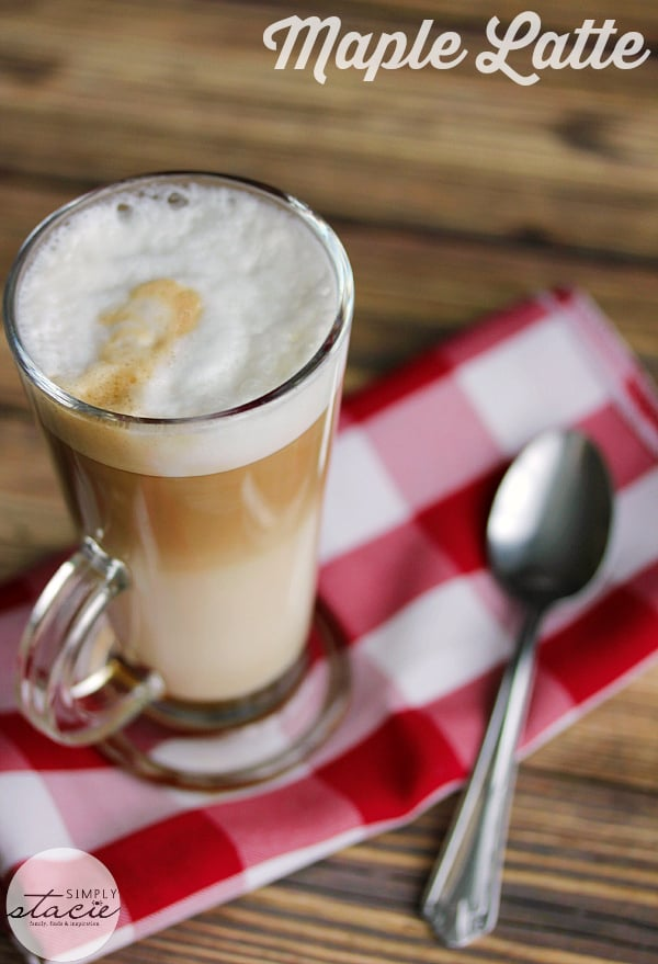 Maple Latte - What could be more Canadian than a sweet maple flavoured latte? This is the perfect afternoon treat when you are craving a warm sweet drink!
