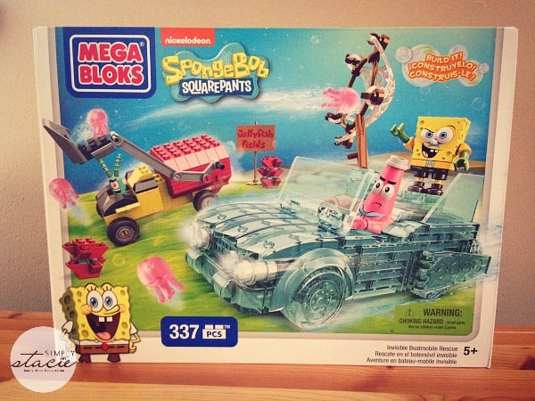 Mega Bloks SpongeBob Squarepants Invisible Boatmobile Rescue Set