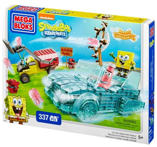 Mega Bloks SpongeBob Squarepants™ Invisible Boatmobile Rescue