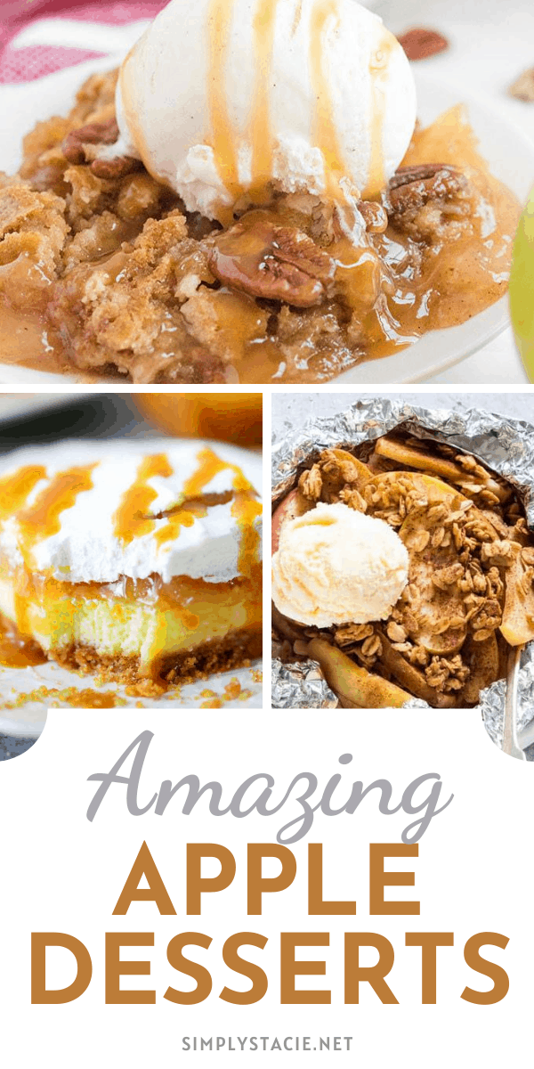 Amazing Apple Desserts - Try these apple dessert recipes this fall season. You'll get your apple fill with this selection and never run short of ways to use up those fresh orchard apples.