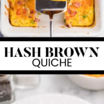 Hash Brown Quiche - Frozen hash browns, cheese, diced ham and green onions make a flavourful combination that are welcomed morning, noon and night.