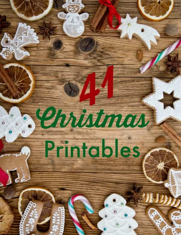 41 Christmas Printables - an extensive list of everything you'll need to prep for Christmas!