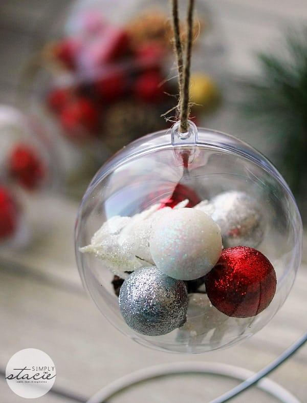 Super Easy Homemade Ball Ornaments