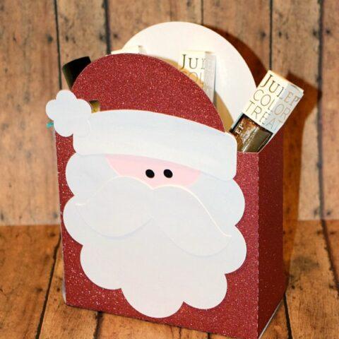 Santa Gift Bag Silhouette Tutorial
