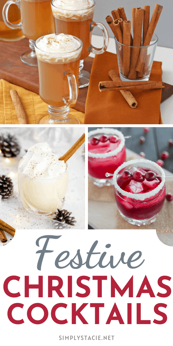 Festive Christmas Cocktails - Add a little Christmas spirit to your holiday gathering with one of these delicious and festive Christmas cocktails.