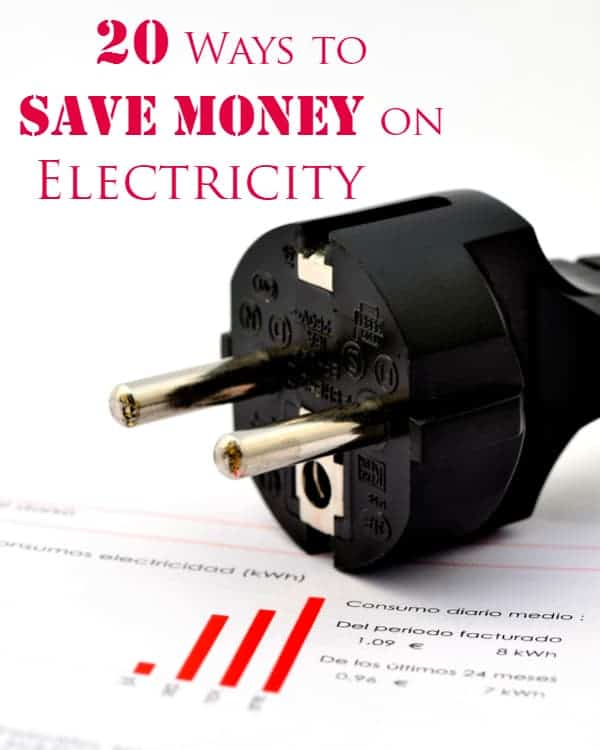 20 Ways to Save Money on Electricity - Check out these 20 ways to save money on electricity! Conserve energy and reduce your bill.