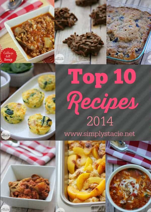 Top 10 Recipes of 2014 - Featuring the most popular recipes of the year from decadent desserts to hearty comfort food!