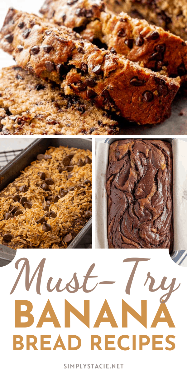 Must-Try Banana Bread Recipes - What's not to love about banana bread? It's moist, sweet and so delicious. Add a little variety to your next loaf with one of these mouthwatering recipes!