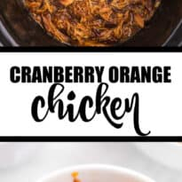 Serve up this Slow Cooker Cranberry Orange Chicken for dinner tonight. Juicy, tart, sweet, and a seasonal recipe to make this fall and winter month.