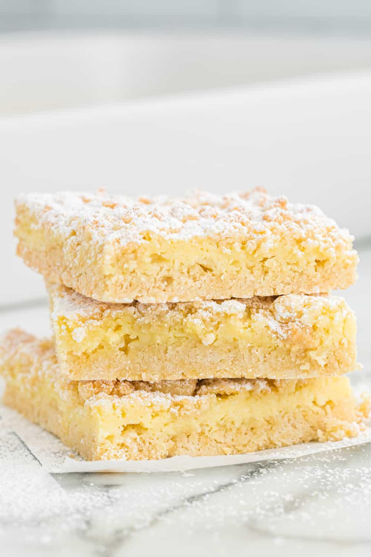 a stack of french vanilla cream bars
