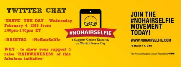 No hair selfie twitter chat
