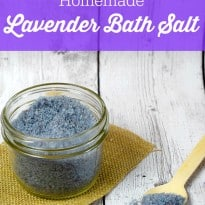Homemade Lavender Bath Salt