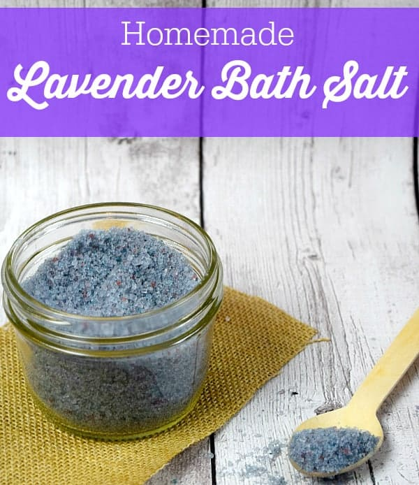 Homemade Lavender Bath Salt - Makes a thoughtful DIY gift for any occasion!