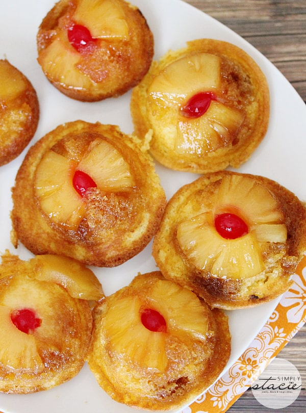 Pineapple Upside Down Cupcakes - incredibly moist and sweet. These cupcakes are super easy to make (and eat)!