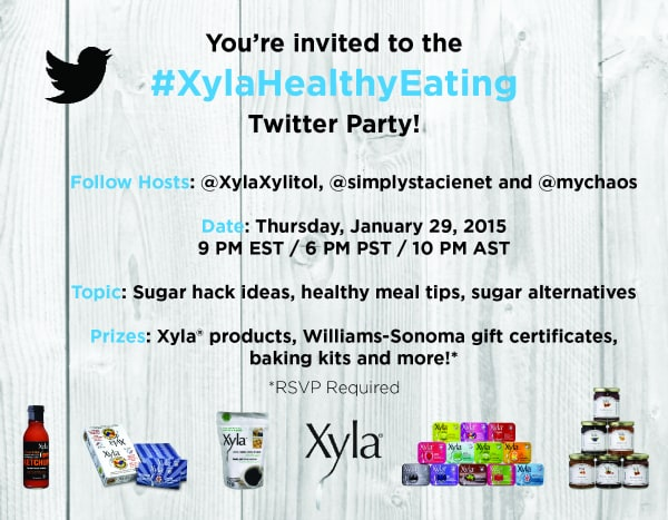 Join the #XylaHealthyEating Twitter Party on Jan 29th!