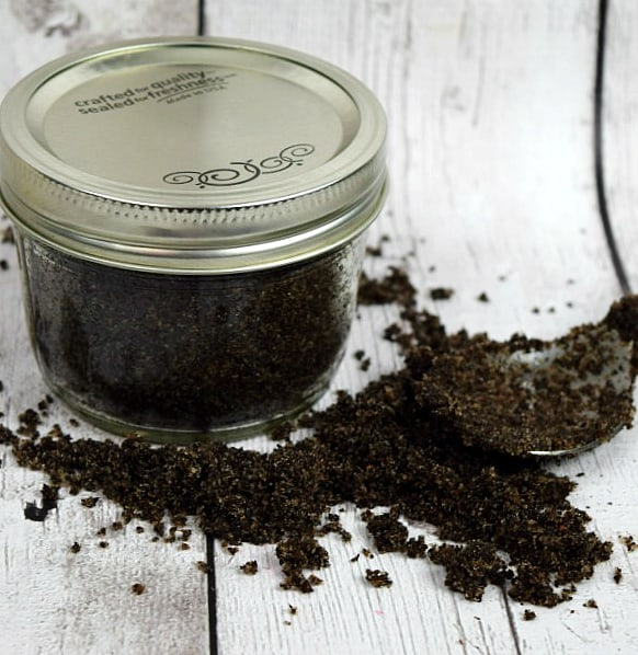 Homemade Coffee Sugar Scrub - Simple recipe for homemade coffee sugar scrub with just a few ingredients! Your skin will thank you!