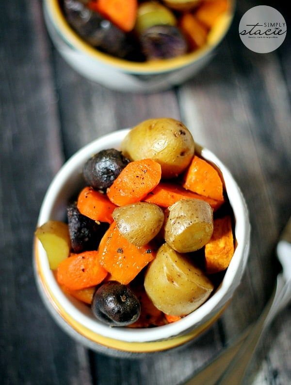 Roasted Root Vegetables - Even veggie haters love this recipe! Serve with some roast beef, chicken or pork tenderloin.