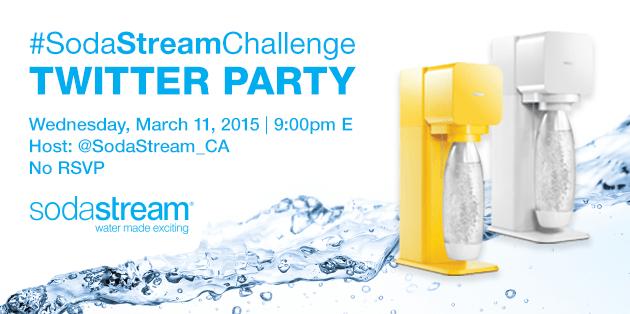 #SodaStreamChallenge Twitter Party