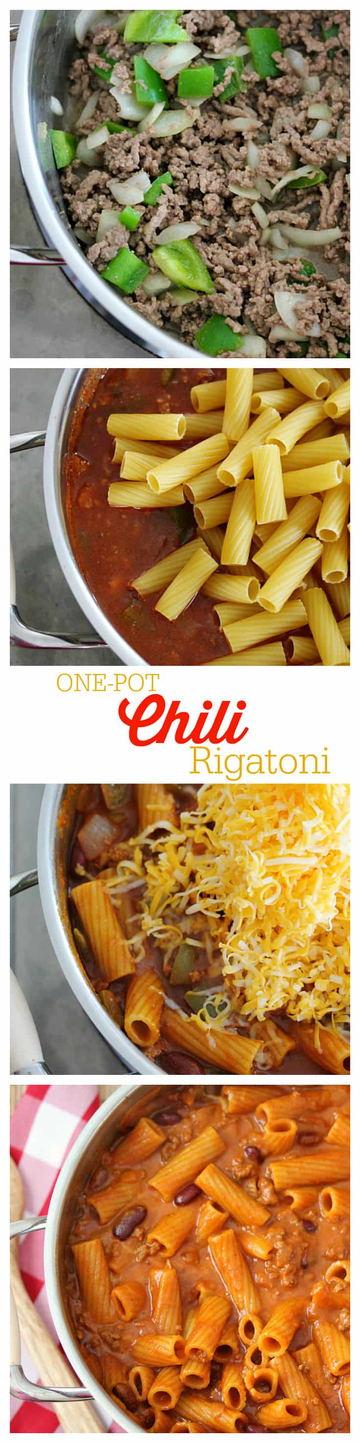 One-Pot Chili Rigatoni - Get dinner on the table in less than 30 minutes with this hearty recipe your family will love!