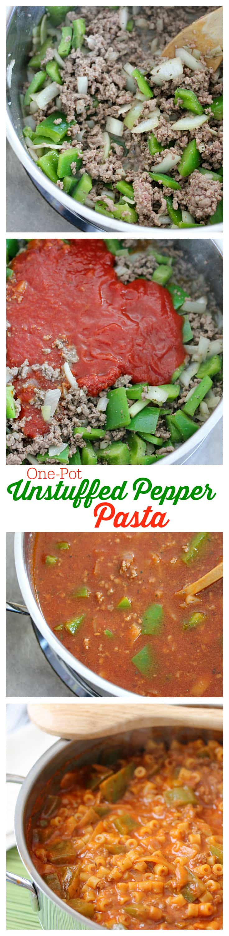 One-Pot Unstuffed Pepper Pasta - The easiest One-Pot Unstuffed Pepper Pasta recipe ever! Make your family a delicious meal in under 30 minutes.
