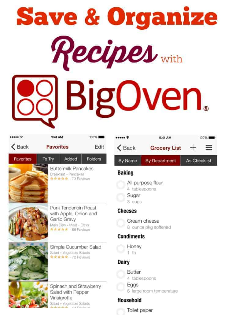 Save & Organize Recipes with BigOven