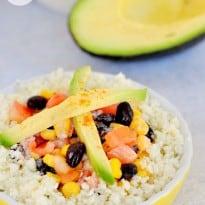Cauliflower Rice Enchilada Bowl