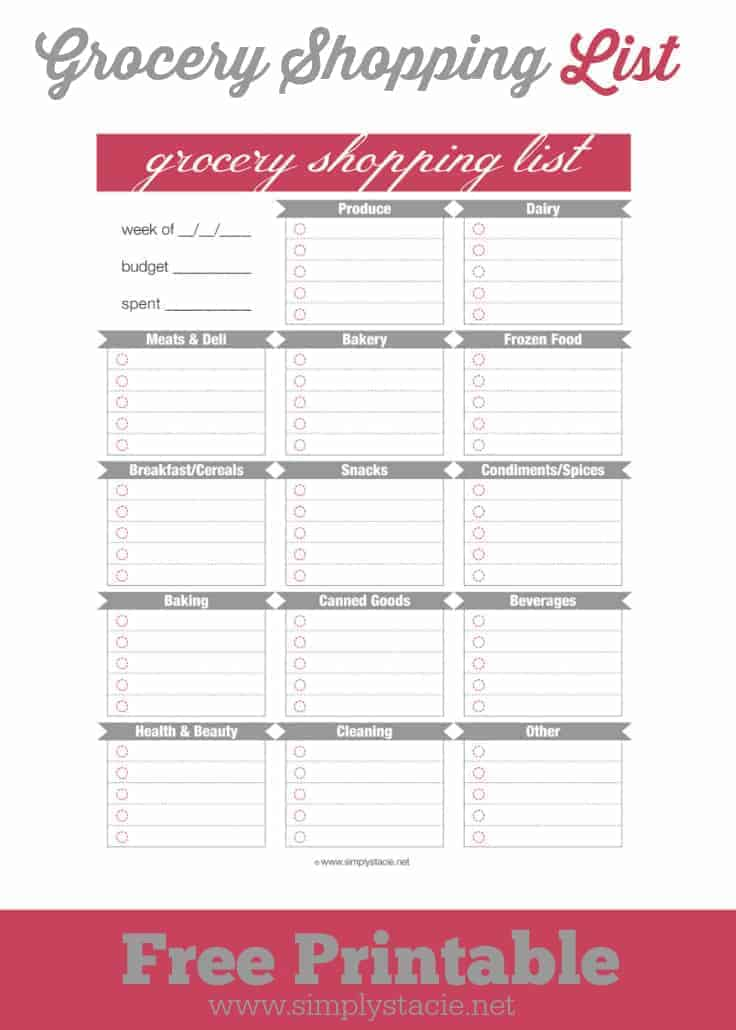 This is a picture of Slobbery Printable Shopping List