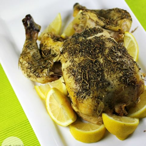 Lemon Herb Slow Cooker Chicken