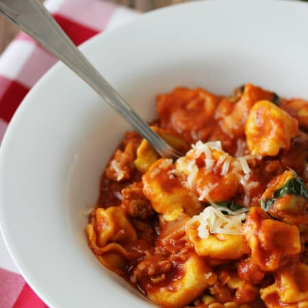 One-Pot Sausage & Cheese Cappelletti