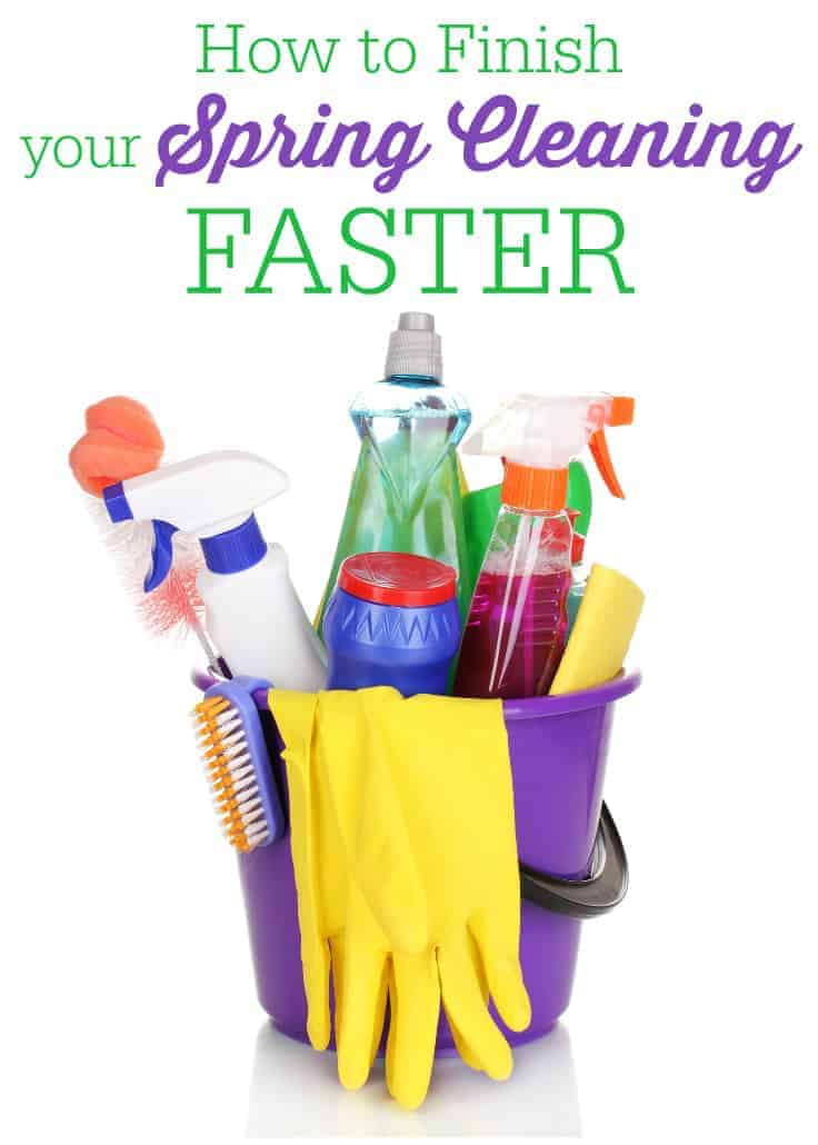 How to Finish Your Spring Cleaning Faster - tips on ways you can get the job done faster and more efficiently!